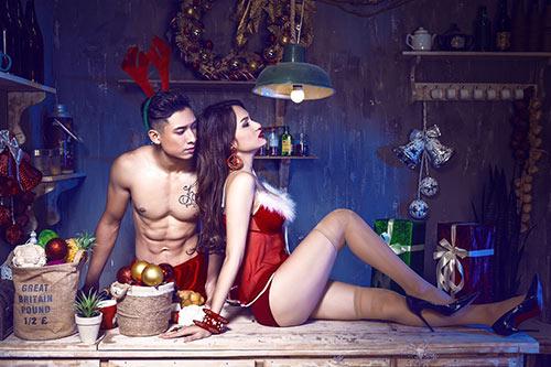 """huong giang idol tinh tu """"hot boy sau mui"""" mua noel - 3"""