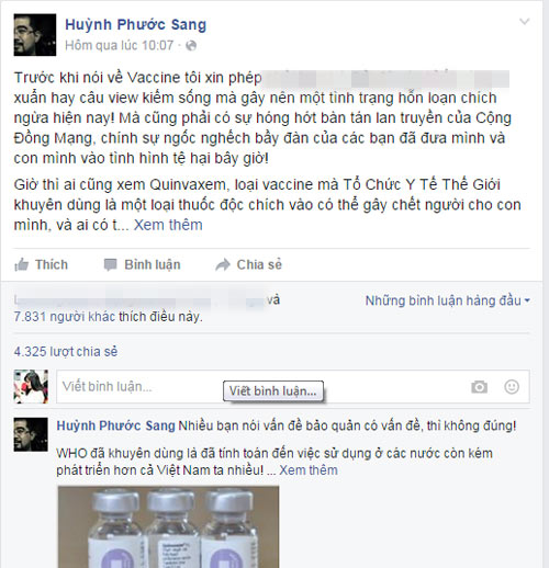facebooker noi tieng noi ve su an toan cua vac xin quinvaxem - 3