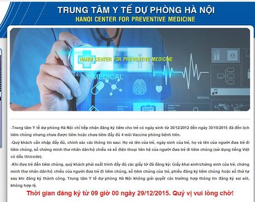 """khong co chuyen sap website dang ky tiem vac xin """"5 trong 1"""" - 1"""