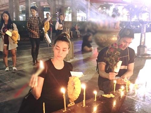 """ha ho di thai lan cung con trai sau """"bao"""" du luan - 1"""