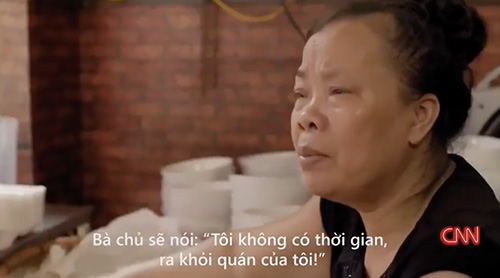 """quan """"bun chui"""" ha noi len cnn: niem """"tu hao trong ngoac kep"""" - 4"""
