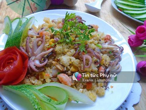 Cơm rang hải sản ngon miệng cho bữa sáng-9