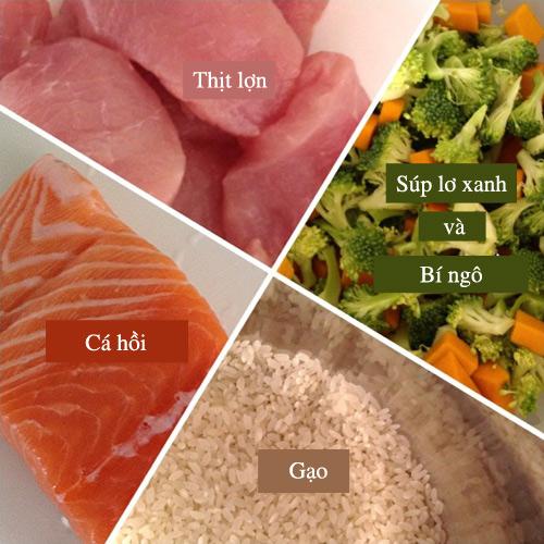 Cách nấu cháo cá hồi, thịt lợn cho trẻ thông minh, khỏe mạnh-1