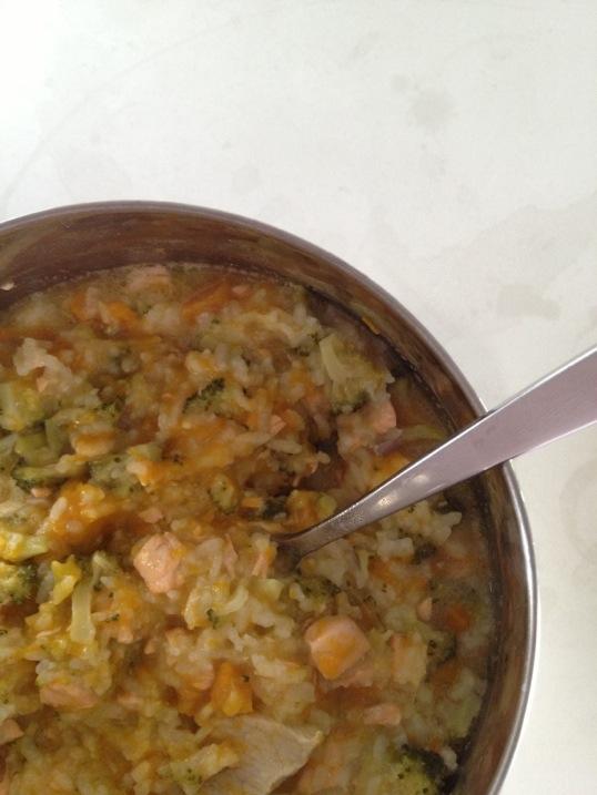Cách nấu cháo cá hồi, thịt lợn cho trẻ thông minh, khỏe mạnh-4