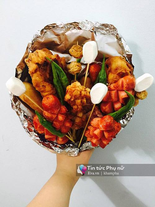 can 20/10, hoa lam tu do an gia 100 nghin/bo gay sot sai gon - 6