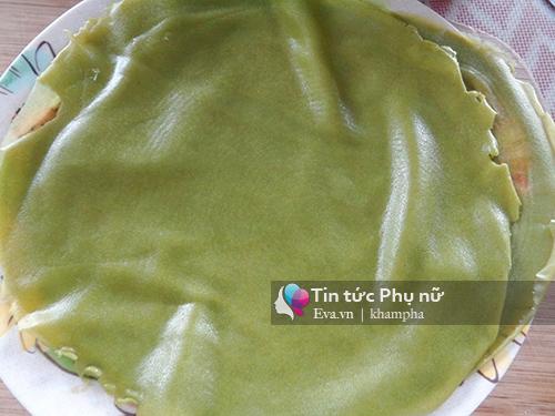 banh crepe tra xanh sau rieng chuan vi - 9
