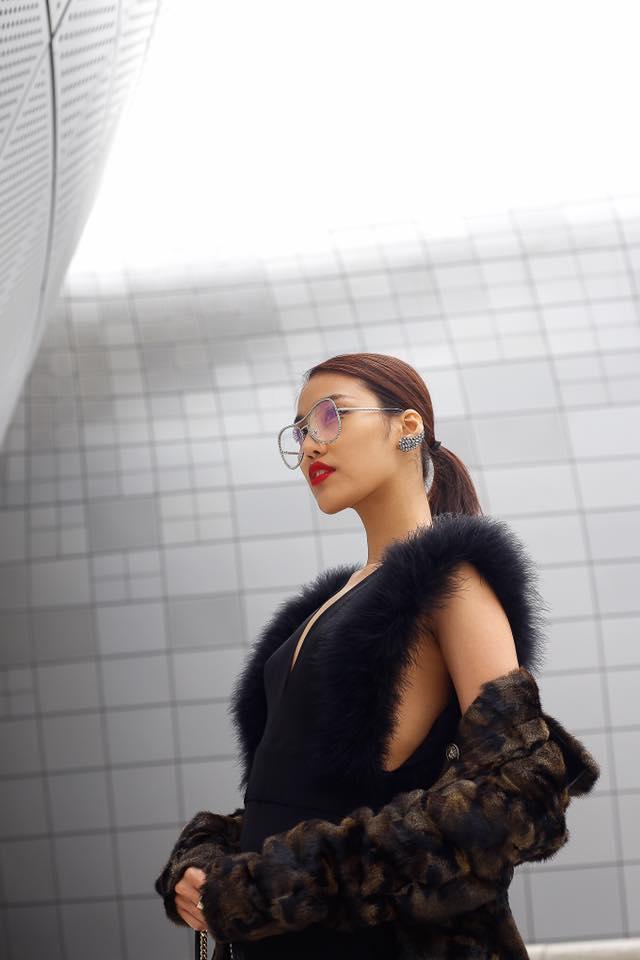 """lan khue """"danh bat"""" tin do thoi trang han tai seoul fashion week - 3"""