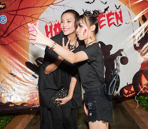vo hoang yen, khanh ngan the face cuong nhiet dem halloween - 3