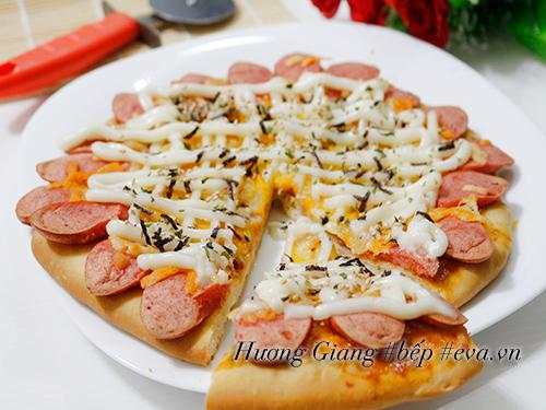 banh pizza xuc xich giam bong tuyet ngon - 9