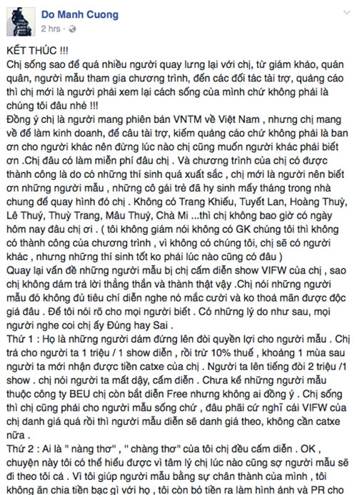"do manh cuong tiet lo loat chuyen ""dong troi"" ve vietnam's next top model - 2"