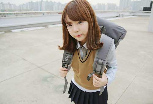 """tuong la  """"hoc sinh cap 2"""" nhung day lai la ba me 2 con noi tieng nhat han quoc - 3"""