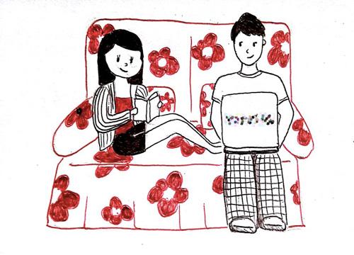 Bộ tranh 'vợ chồng xa nhau' khiến ai cũng phải đồng cảm-12