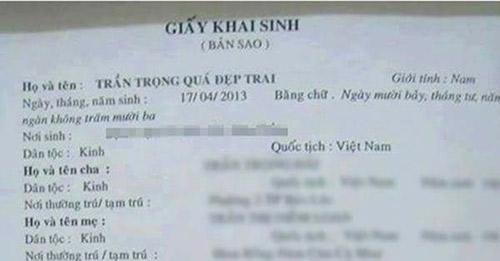 """cuoi dau bung voi nhung kieu dat ten con cua nhung ong bo ba me viet """"vui tinh"""" - 2"""