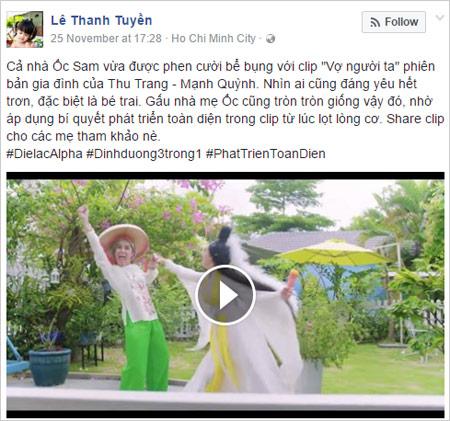 """Các bà mẹ Việt phát sốt với """"Vợ người ta"""" của Thu Trang - Mạnh Quỳnh-5"""