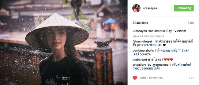 Người đẹp lai Thái Lan khoe ảnh đội nón lá xuất hiện tại Đà Nẵng - Huế-2