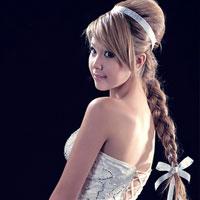 Kiểu tóc Tết cho cô dâu