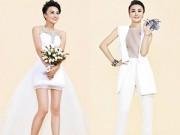 Thời trang - Chọn váy cưới tuyệt đẹp cho cô dâu tóc tém