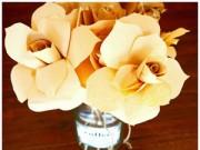 Rảnh tay 5 phút làm hoa giấy hút mắt cho bàn làm việc