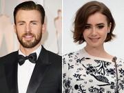 "Rộ tin ""Captain America"" Chris Evans hẹn hò Lily Collins"