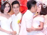 Giải trí - Vân Trang đắm đuối hôn chồng thiếu gia trong tiệc cưới