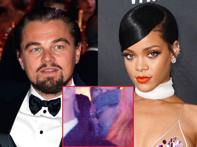 Lộ ảnh khóa môi gây sốc của Rihanna và Leo DiCaprio