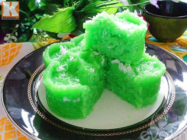 Xôi dẻo lá dứa nước cốt dừa béo ngậy thơm ngon