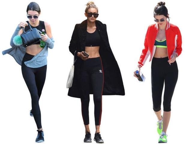 Thời trang gym hoàn hảo của Kendall Jenner và Gigi Hadid