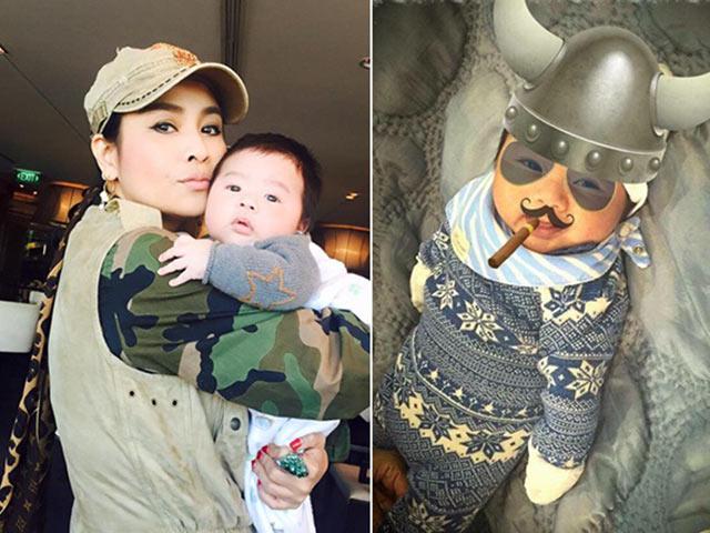 Con trai Tùng Dương ngoan ngoãn trong vòng tay Thanh Lam