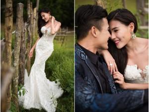 Thúy Diễm gợi cảm hút hồn bên Lương Thế Thành trong ảnh cưới