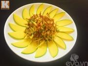 Bếp Eva - Gỏi xoài xanh mực khô ngon mê