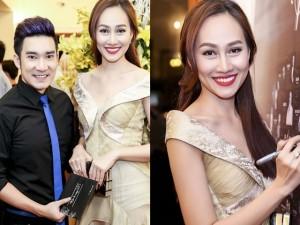 Quang Hà bảnh bao dự tiệc bên Á hậu Kim Duyên