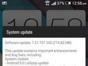 HTC nâng cấp bản Android mới nhất cho người dùng One M7 tại Việt Nam