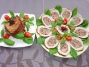 Bếp Eva - Thịt thăn lợn nhồi nấm hương đầy hấp dẫn