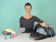 Thời trang - Cách xếp áo thun vào vali siêu tiết kiệm diện tích