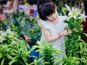 Làm mẹ - Bé gái Hà Thành dịu dàng tựa thiếu nữ trong mùa hoa loa kèn