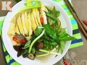 Bếp Eva - Miến gà nấm trộn chua cay đầy hấp dẫn