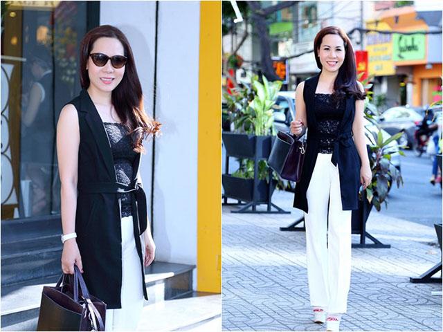 Nữ hoàng Kim Chi sành điệu, rạng ngời xuống phố