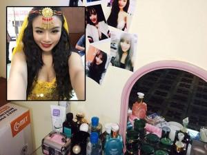 """Sốc với phòng trọ 10m² của hotgirl """"tủ đồ 800 triệu"""" Linh Miu"""
