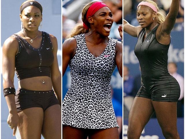 Váy áo nhức mắt của nữ hoàng quần vợt Serena Williams