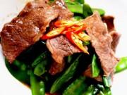 Bếp Eva - Thịt bò đậu Hà Lan sốt dầu hào bổ dưỡng