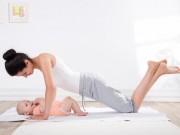Những động tác giúp vòng bụng săn chắc sau sinh