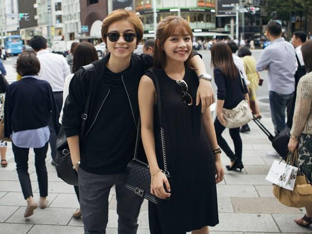 Chi Pu - Gil Lê đẹp đôi trên đường phố Nhật Bản