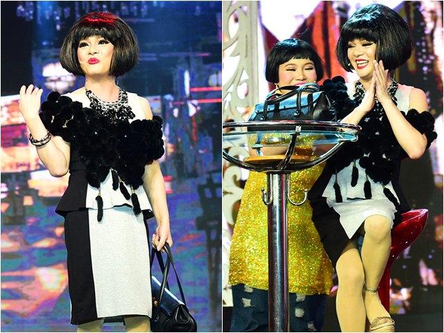 Làng Hài Mở Hội: Ca sĩ Vũ Hà mặc váy của vợ đi diễn hài
