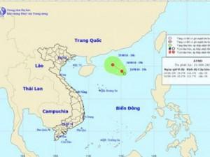 Xuất hiện áp thấp nhiệt đới mới với sức gió giật cấp 7 - 8 trên Biển Đông