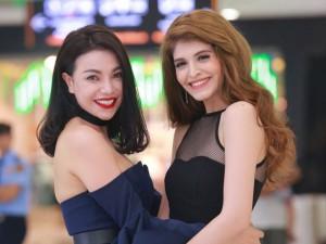 Trà Ngọc Hằng thân thiết Andrea Aybar như chị em