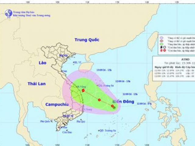 Áp thấp nhiệt đới khả năng mạnh thành bão, hướng vào Quảng Ngãi-Khánh Hòa