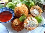 Bếp Eva - Cơm nguội bọc trứng cút chiên giòn thơm ngon cho bé