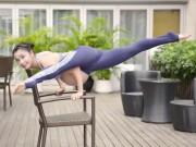 Choáng   với bài tập yoga của mẹ bầu 39 tuần