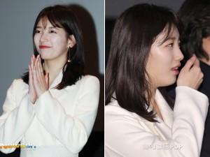 Bae Suzy lộ mặt tròn xoe béo ú tại sự kiện