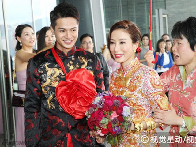 """""""Chị cả TVB"""" Dương Di đeo vàng nặng trĩu tay trong ngày cưới"""